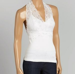 ❤  3/29...halter Style lace detail tank top